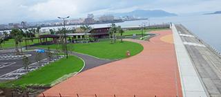 河川建設事業風景