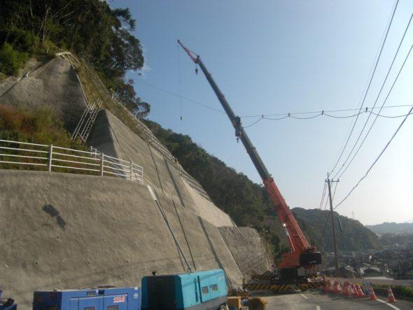 日枝ヶ迫線道路改良工事