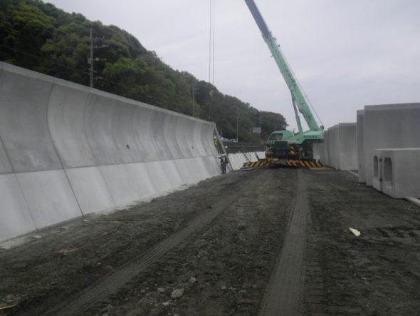 川内川の氾濫防止工事