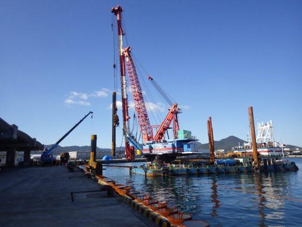 枕崎漁港の整備工事