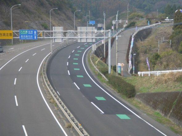 指宿鹿児島インター線舗装工事