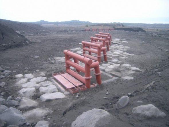 桜島砂防牛枠設置工事